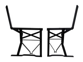 bench frames with backrest standard and extra wide for comparison