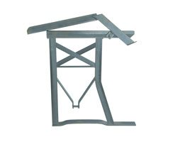 Galvanized bank-frame with backrest