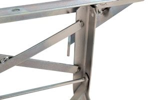 Flap safety for bench racks with backrest