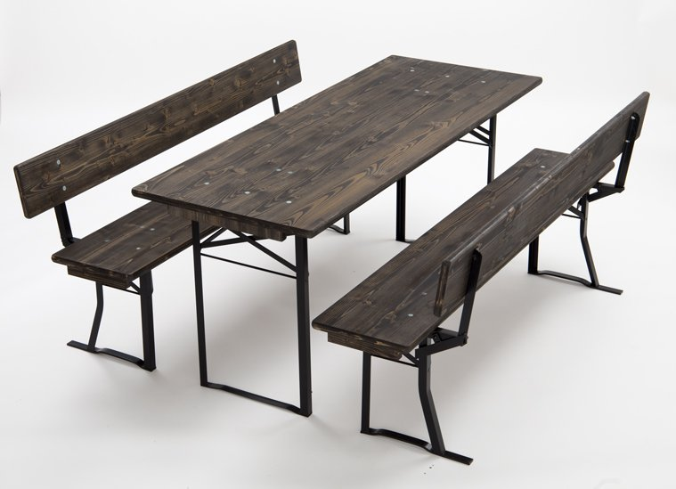 Festivity pub set No.126 with 35cm wide seat 164cm long No.126