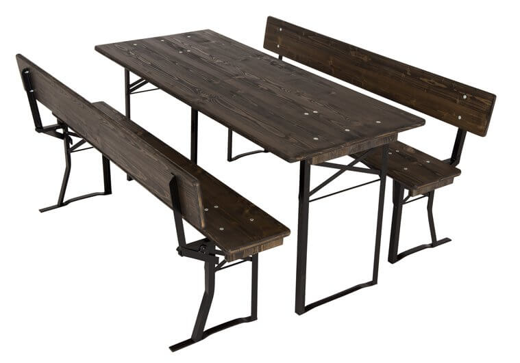 Pub set, marquee set with backrest colour ebony No.120