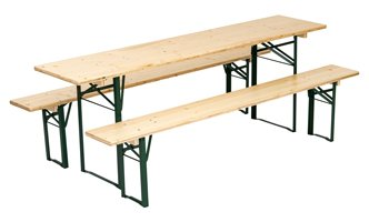 Benches & table set brewery quality standard