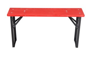 Benches red black short