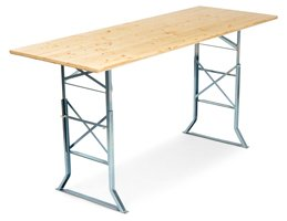 Standing table with table extension