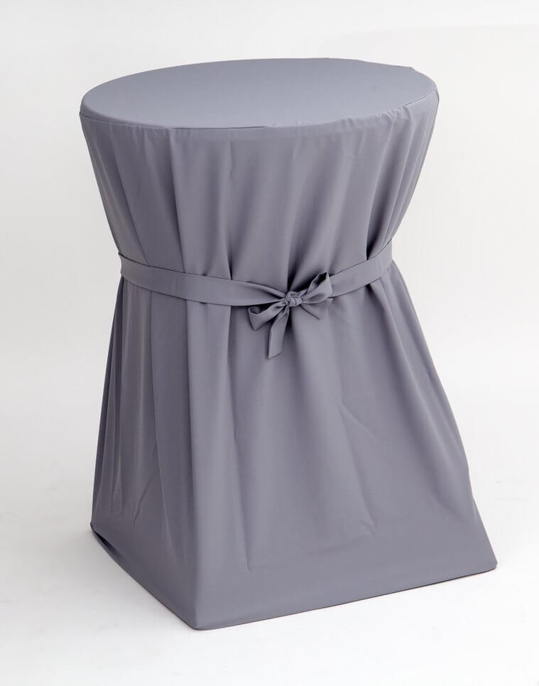 Cover silver-grey for folding standing table and also for all other standing tables