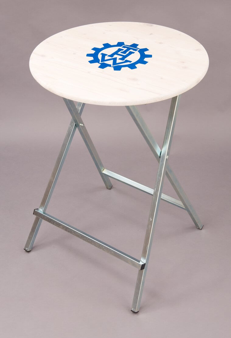 standing tables screen printing THW