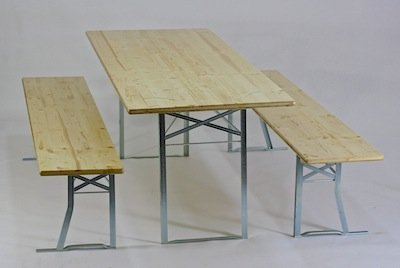 Table and benches set, marquee set with 40 cm bench width No.182