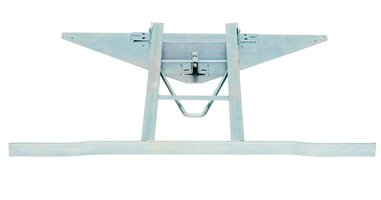 table frame with snap lock welded to iron plate