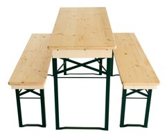 Table and benches set 110cm