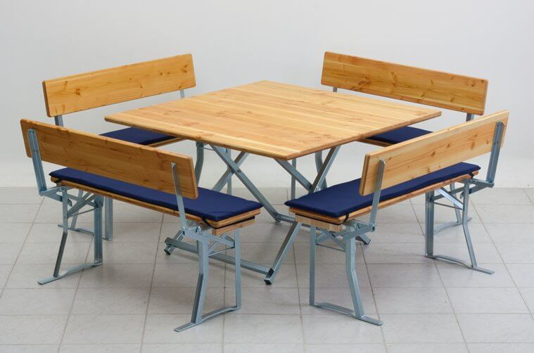 seat cushion blue for table and benches set square